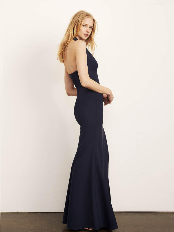 Kate Halter Gown with Slit