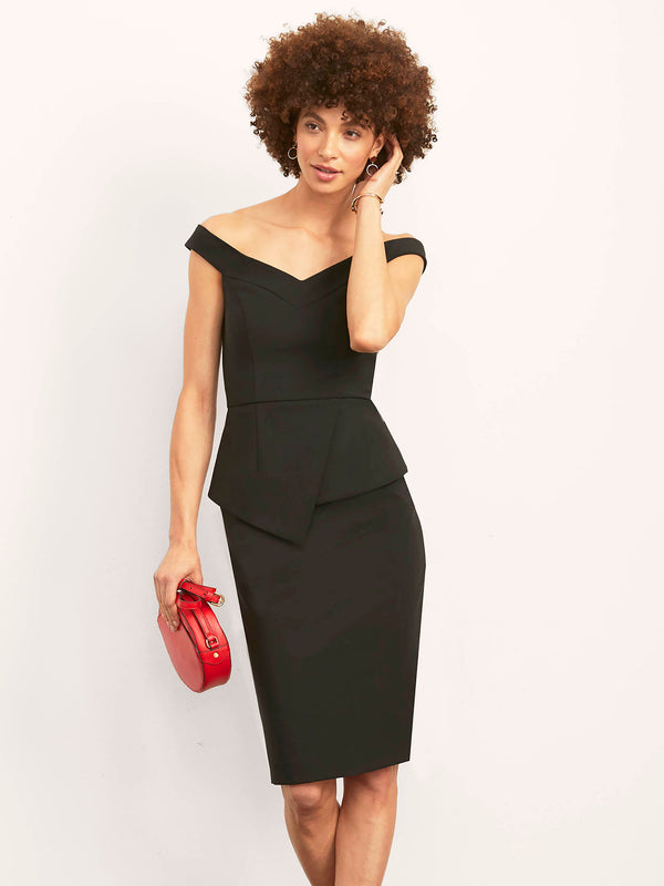 Meredith Off Shoulder Dress with Peplum