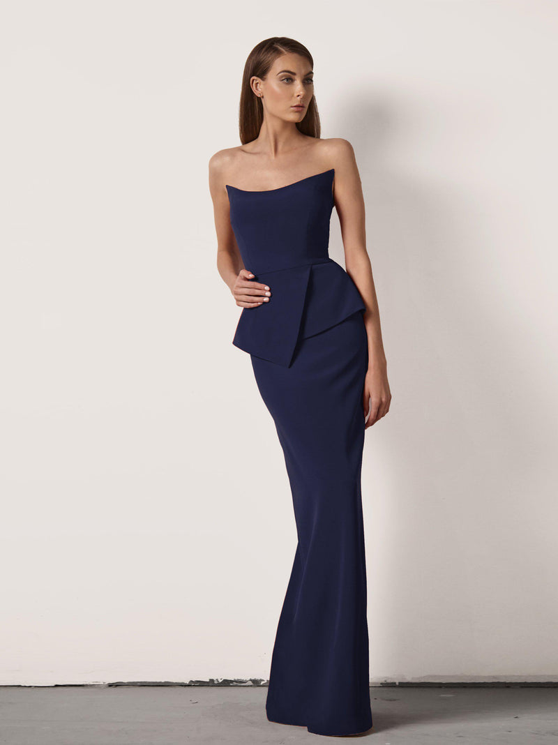 Victoria Gown with Peplum