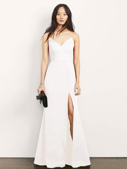 Jessica Strapless Gown with Slit-Dress-Altress