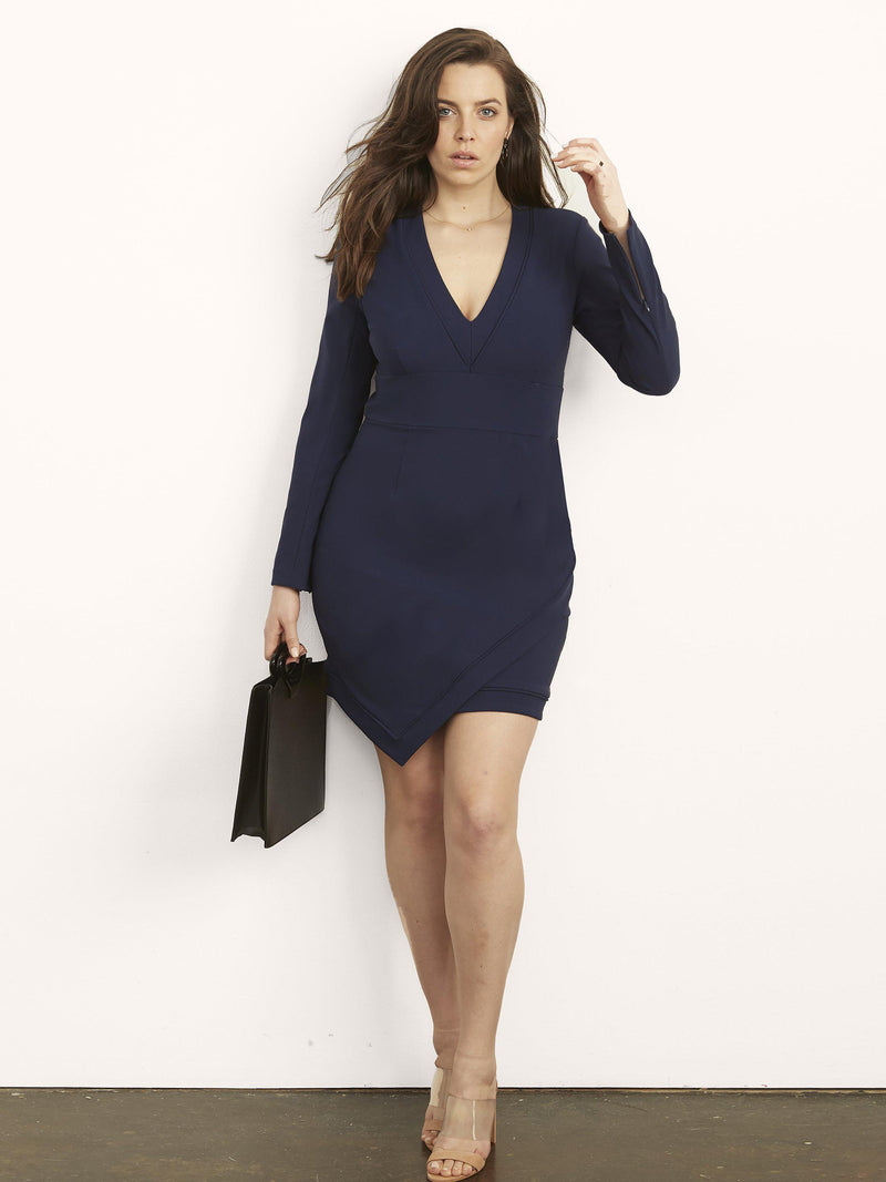 Rayna Dress with Asymmetrical Hem