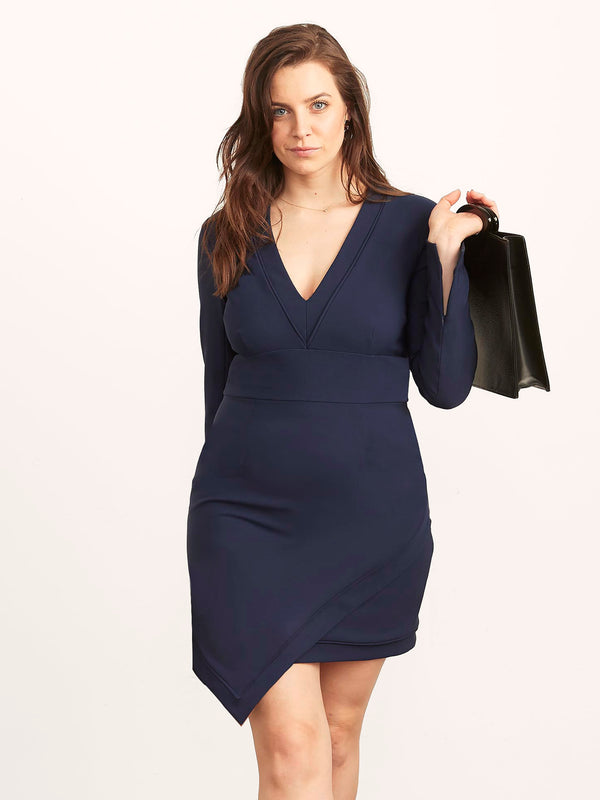 Rayna Dress with Asymmetrical Hem-Dress-Altress
