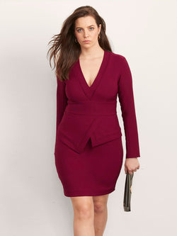 Rayna Dress with Peplum-Dress-Altress