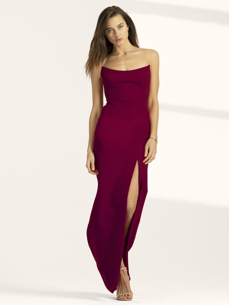 Victoria Gown with Slit-Altress