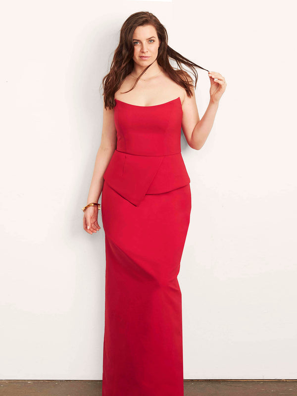 Victoria Gown with Peplum-Dress-Altress