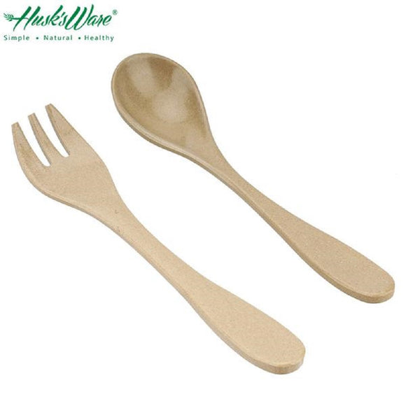 Natural Rice Husk Children Utensil Set - 2pcs