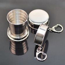 Collapsible Stainless Steel Drinking Cup - 60ml