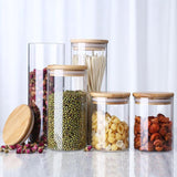 Glass Storage Jars with Bamboo Lids
