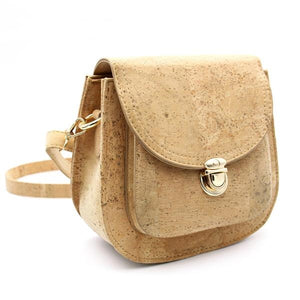 Natural Cork Structured Shoulder / Cross Body Handbag