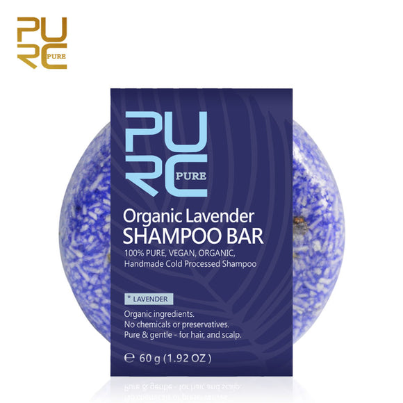 Organic Handmade Lavender Shampoo Bar - All Hair Types