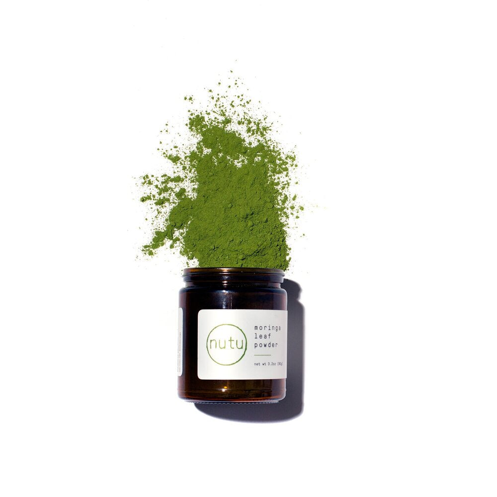 Sustainable lifestyle brand Nutu moringa leaf powder at PazLifestyle.com