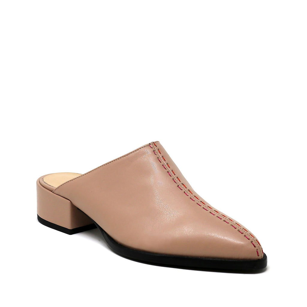 Blush Vegan Slip-On Mule - PAZLIFESTYLE