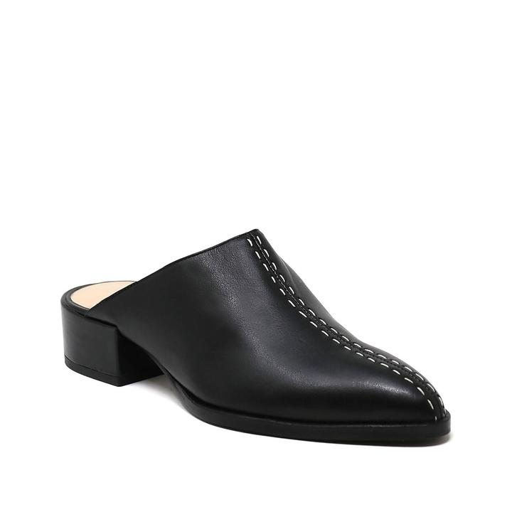 Black Vegan Slip-On Mule - PAZLIFESTYLE