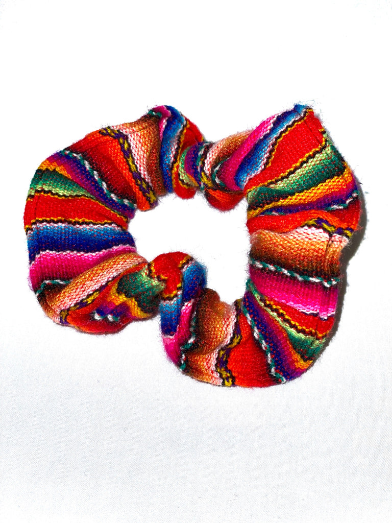 Sustainable lifestyle brand Paz Andean Scrunchie at PazLifestyle.com
