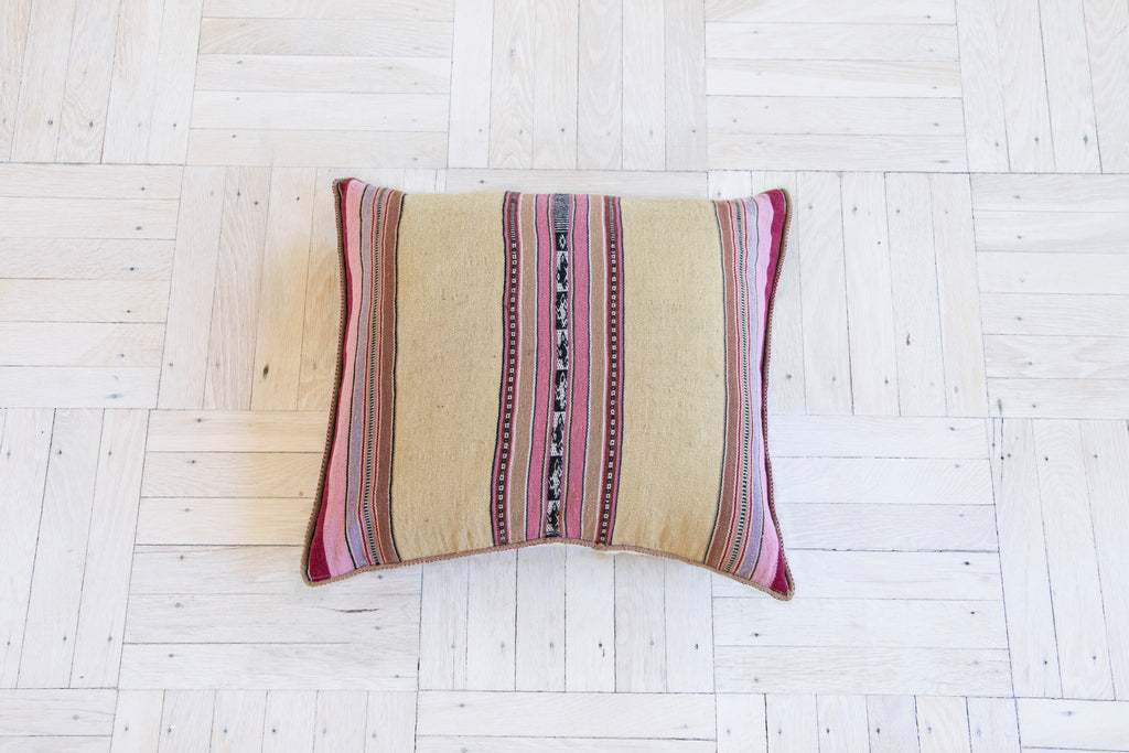 Pink Stripe Pillow COver - PAZLIFESTYLE