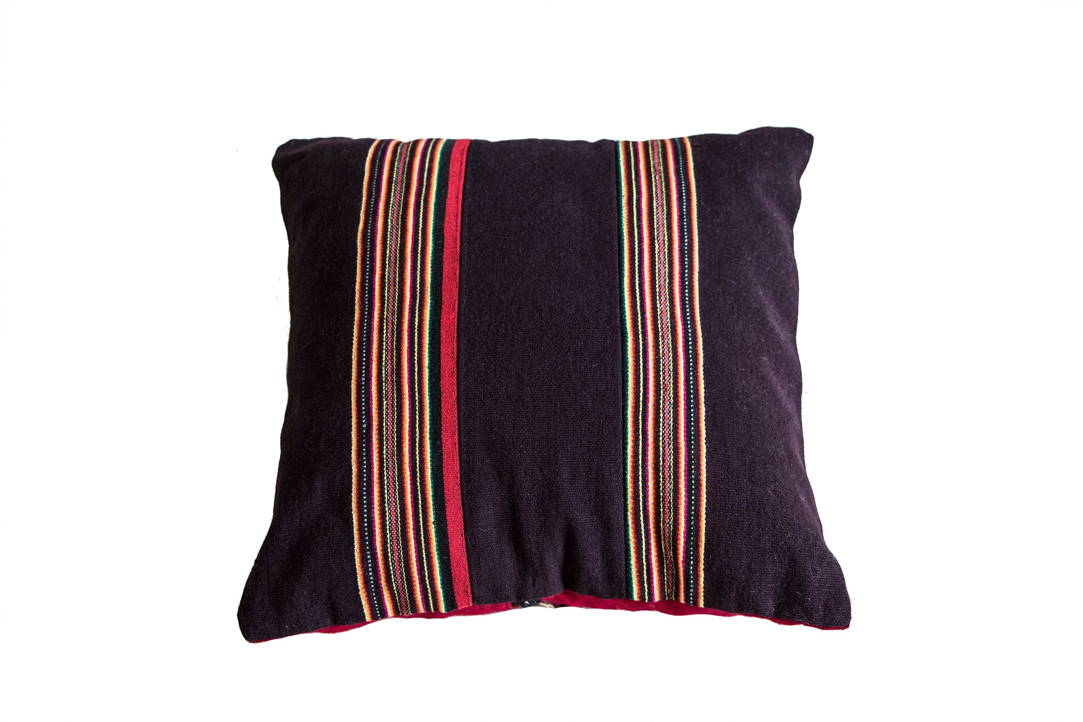 Vintage Brown & Red Stripe Pillow Cover - PAZLIFESTYLE