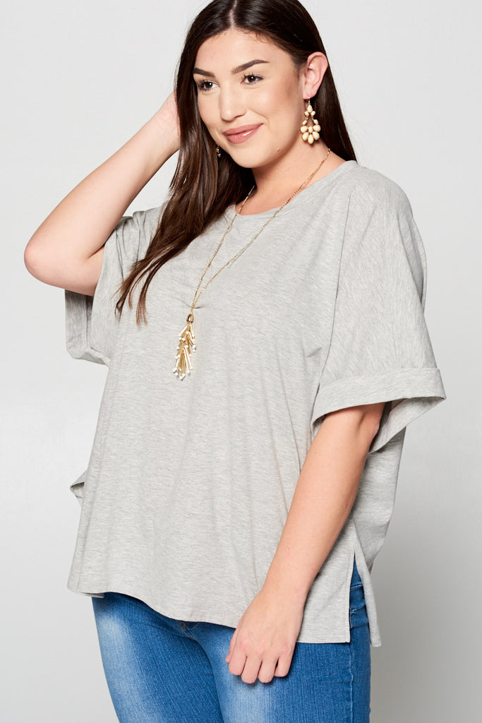 + Casual Top with Dolman Sleeves