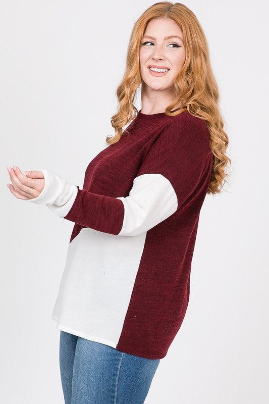 + Burgundy Lightweight Sweater