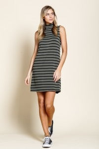 Olive Stripe Dress