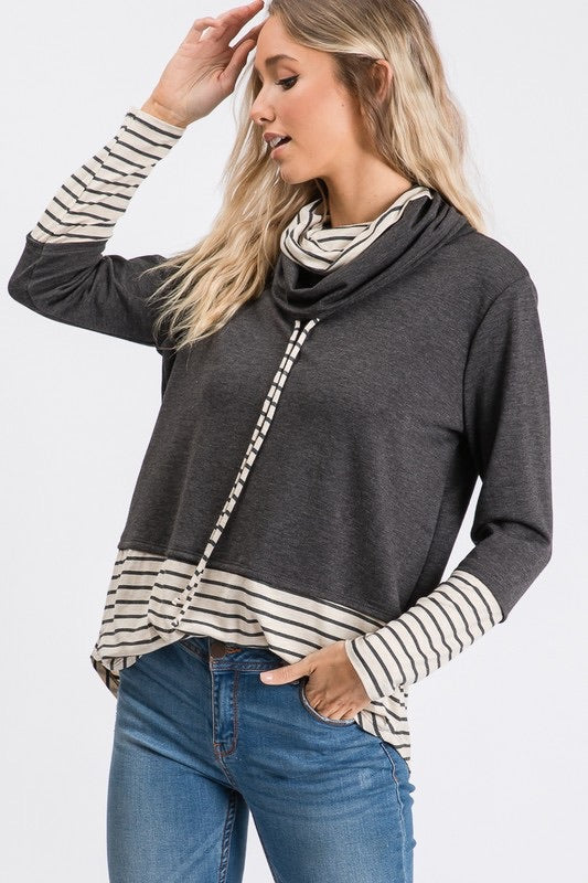 Double Cowl Neck Top