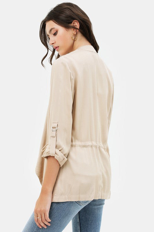 Draped Collar Jacket