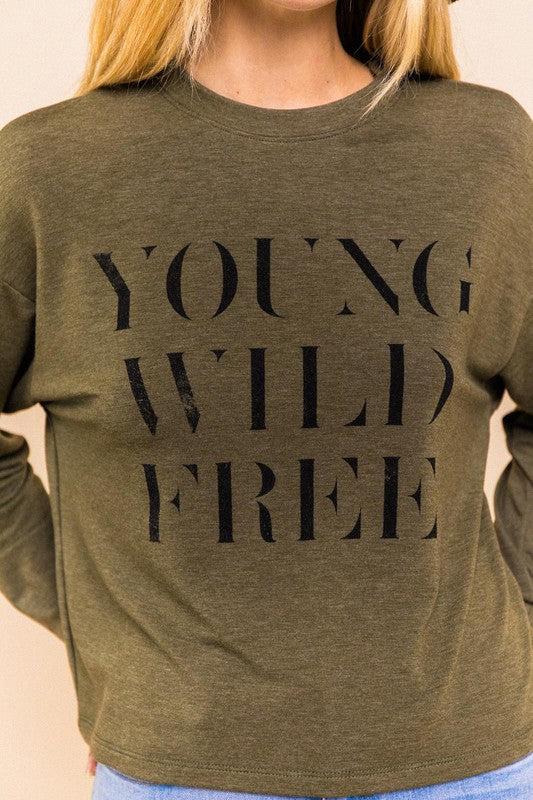 Young Wild Free Top