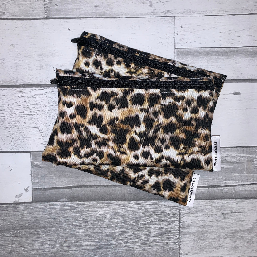 Cheetah Reusable Snack Bag Set