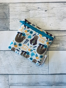 Born to be Mild Sloth Reusable Mini Snack Bag