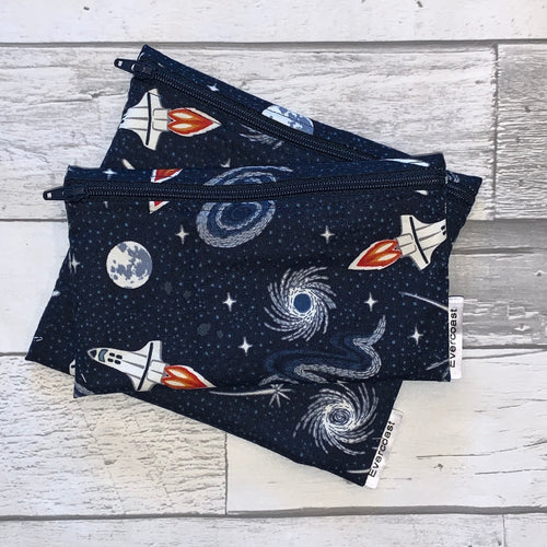 Glow in the Dark Space Reusable Snack Bag Set