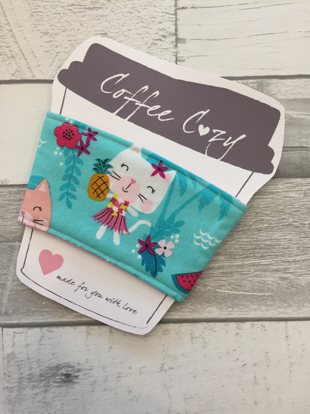 Hula Cat Take Out Coffee Cozy