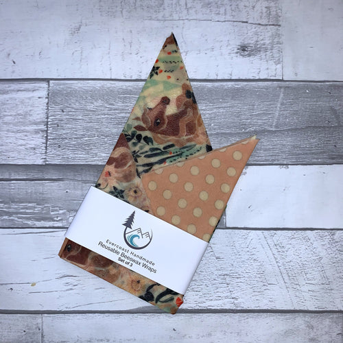 Floral Horse Beeswax Wraps – Classic Set of 3