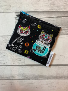 Day of the Dead Kitty Reusable Mini Snack Bag