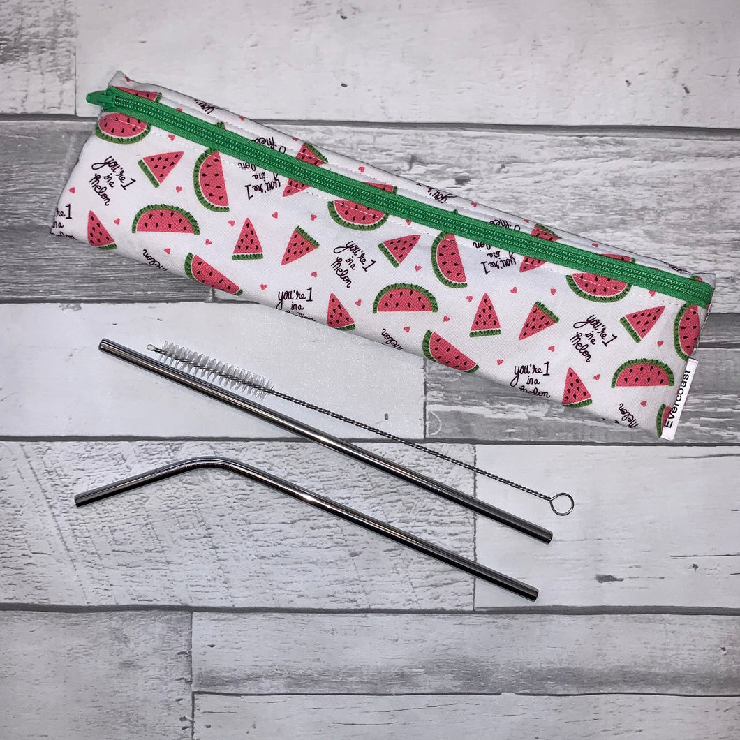 One in a Melon Reusable Straw/Utensil Bag