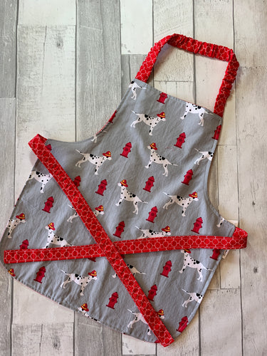 Fire Dog Toddler Apron