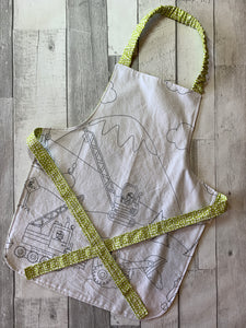 Color Me Construction Border Preschooler Apron