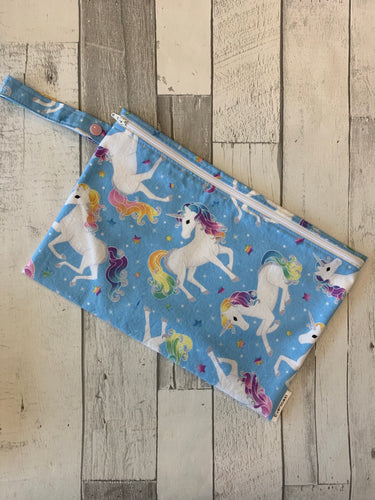 Blue Unicorn Small Wet Bag