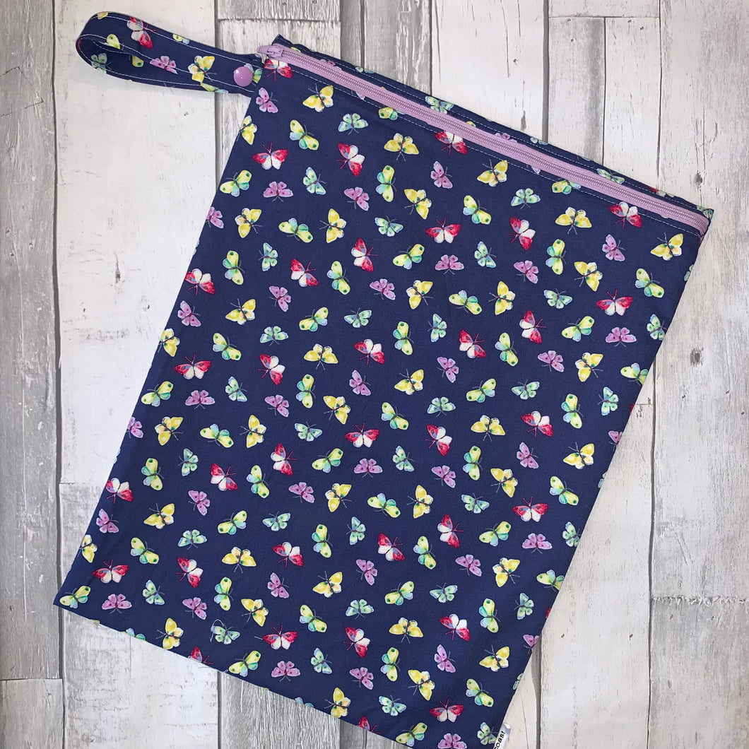 Purple Butterfly Large Wet Bag