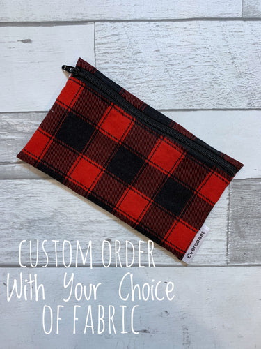 CUSTOM ORDER - Reusable Snack Bag