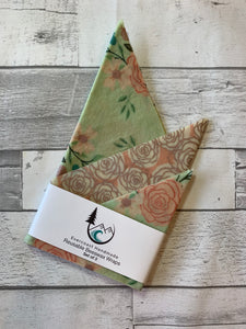 Bliss Mint Floral Beeswax Wraps – Classic Set of 3