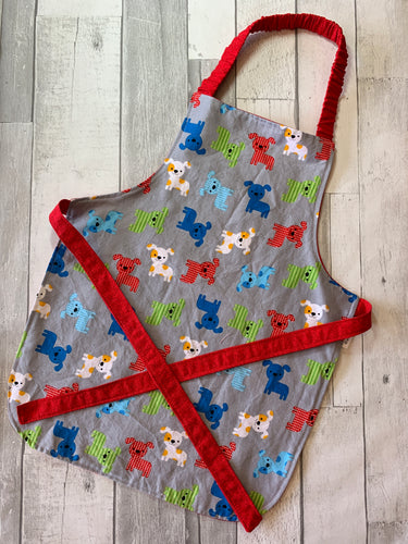 Multicolor Dog Preschooler Apron