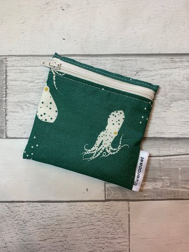 Green Squid Reusable Mini Snack Bag