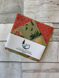 Succulent Beeswax Wraps – Mini Set of 3
