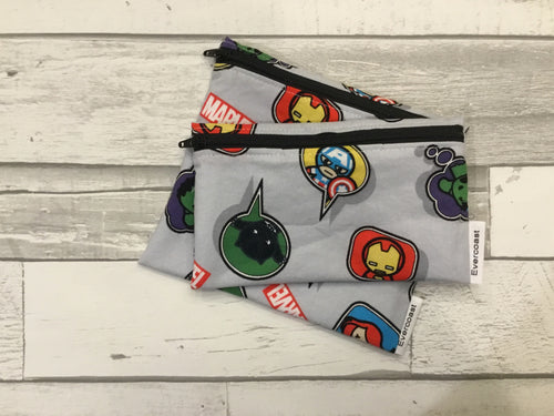 Speech Bubble Super Hero Reusable Snack Bag Set