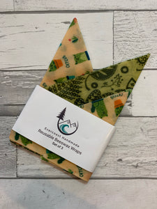 Catcus Beeswax Wraps – Essential Set of 3