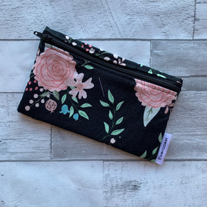 Black Bliss Floral Reusable Snack Bag