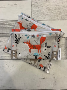 Taupe Woodland Reusable Snack Bag Set