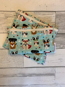 Mint Super Dog Reusable Snack Bag Set