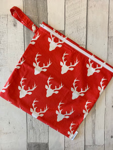 Red Bucks Medium Wet Bag