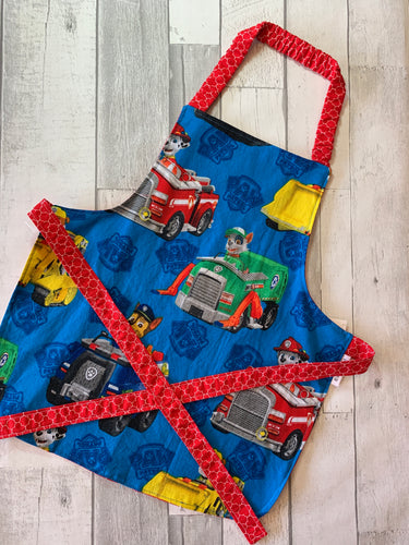 PP Vehicles Toddler Apron