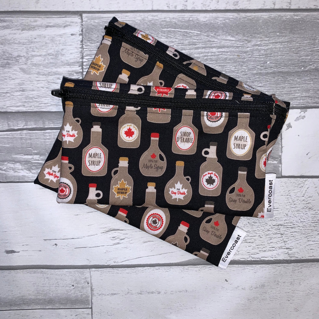 Maple Syrup Reusable Snack Bag Set